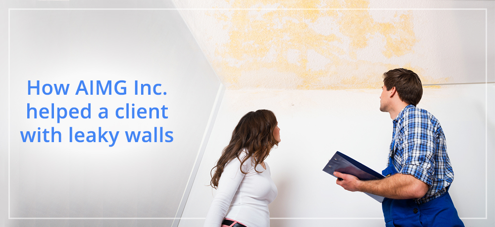 How AIMG Inc. helped a client with leaky walls