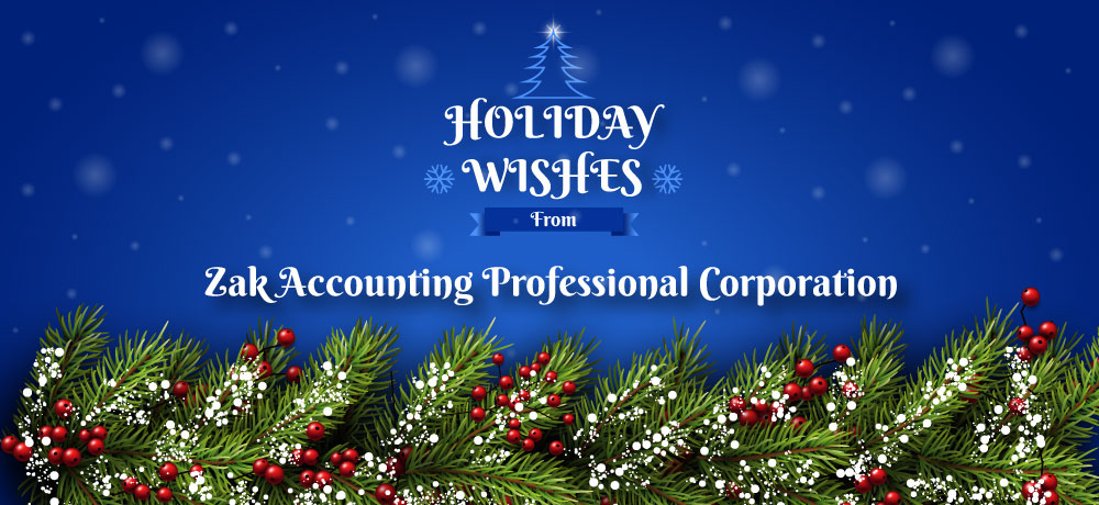 Season's Greetings from Zak Accounting Professional Corporation
