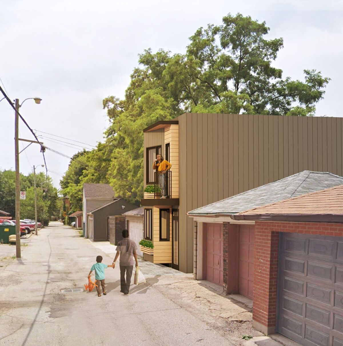 2 Bedroom, 2 Storey Laneway House Design by The Architect Builders Collaborative Inc. in Toronto