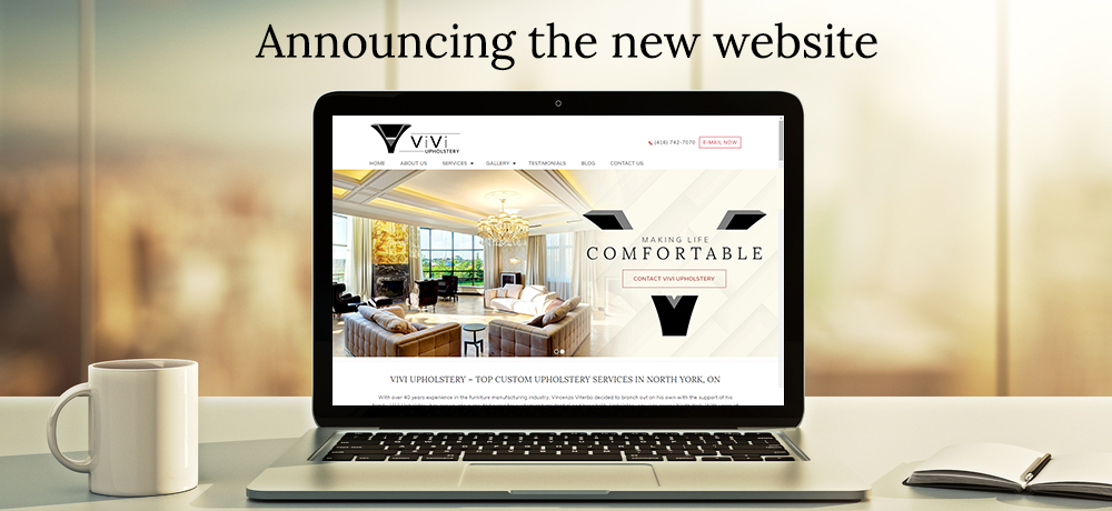 Announcing the New Website - ViVi Upholstery