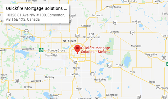 Quickfire Mortgage Solutions Location Map Edmonton