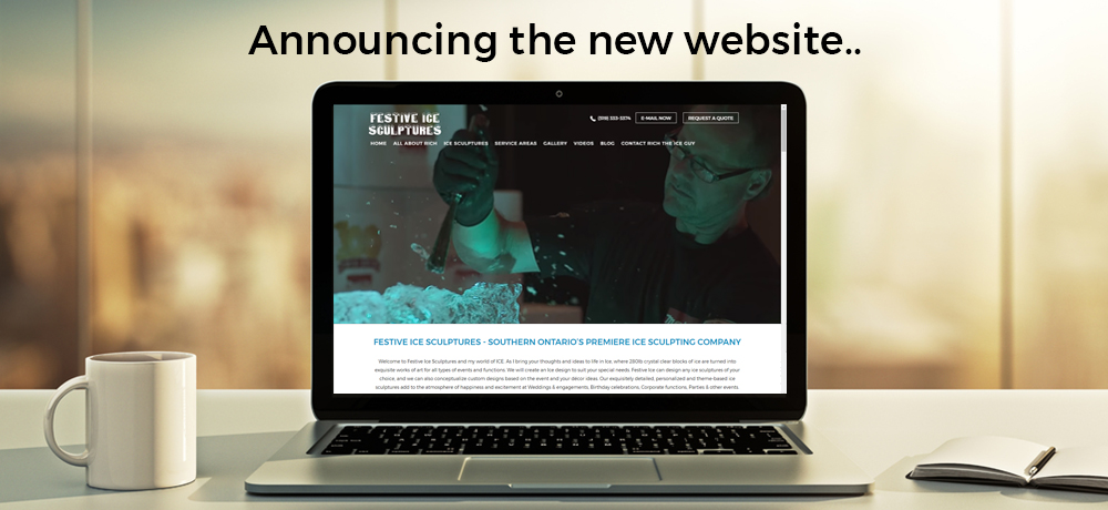 Announcing the New Website - Festive Ice Sculptures