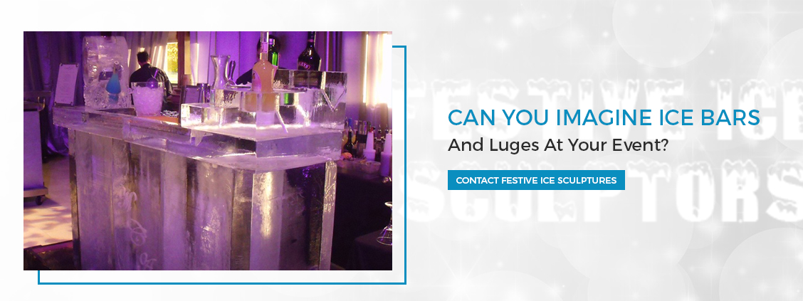 Ice Bars and Martini luges by Ice Sculpture Company London - Festive Ice Sculptures