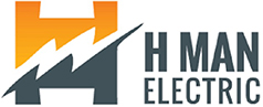 H MAN ELECTRIC Logo