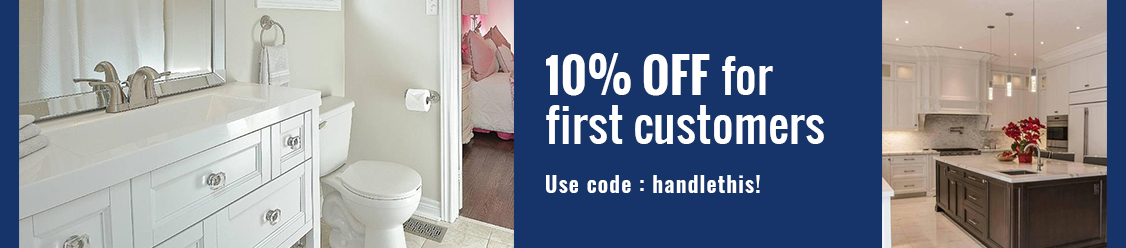 10 Percent Off for First Customers at Handle This - Family Owned Kitchen and Bathroom Accessories Business