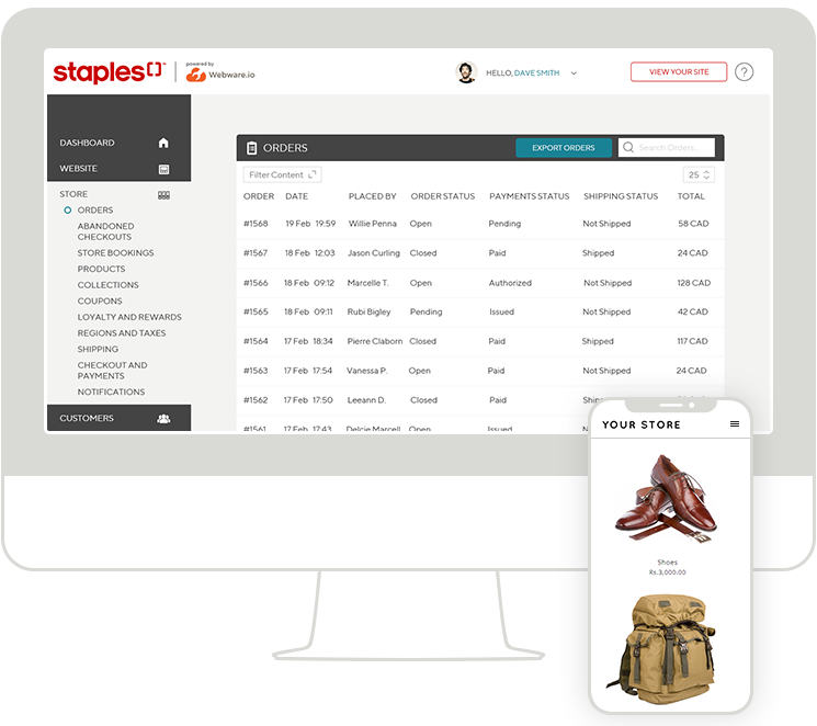 Run your Online Store with Webware's e-commerce platform