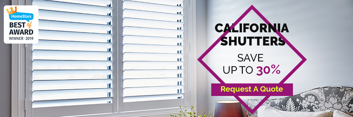 Save Up to 30% On California Shutters