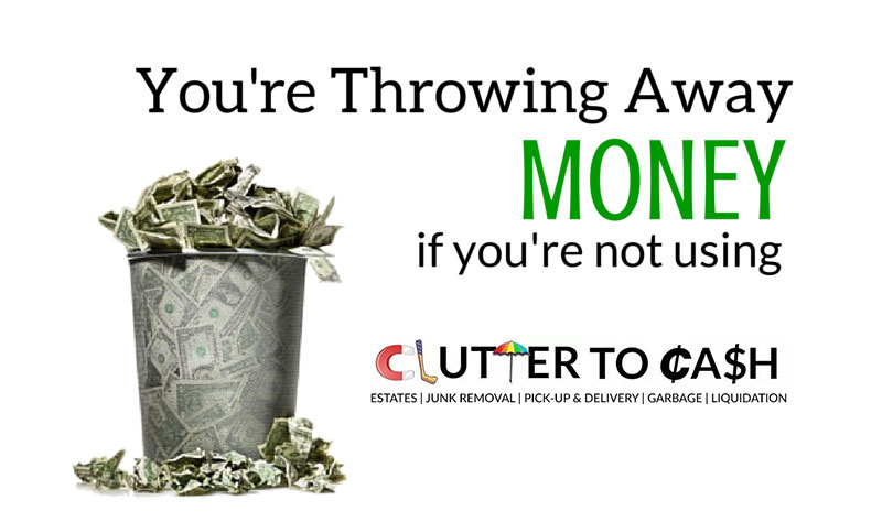 you are throwing away money