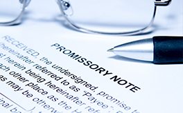 Promissory Notes - Miscellaneous Legal Services Offered by Top Criminal Lawyer Mississauga