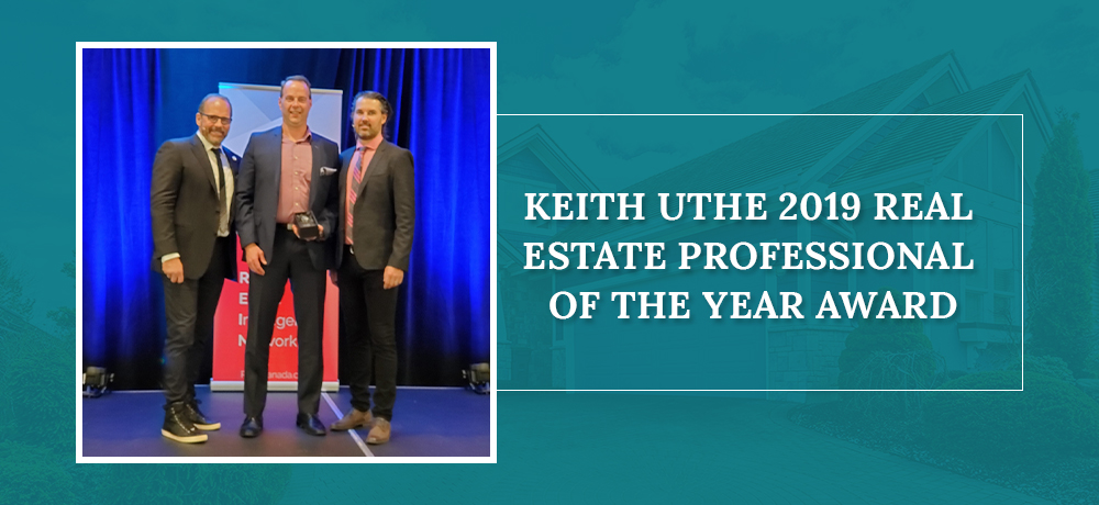 Keith Uthe 2019 Real Estate Professional of the year award