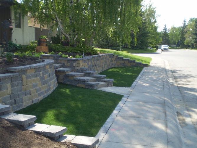 Spring Lawn, Garden Cleans and Maintenance by Brick, Rock and Block Landscaping - Grande Prairie Landscaping Company