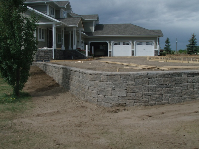 Parking Lot Sweeping Service Grande Prairie by Brick, Rock and Block Landscaping
