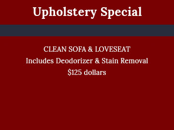 Upholstery Special - Cleaning Services Atlanta by Preferred Carpet Cleaning and Floor Care