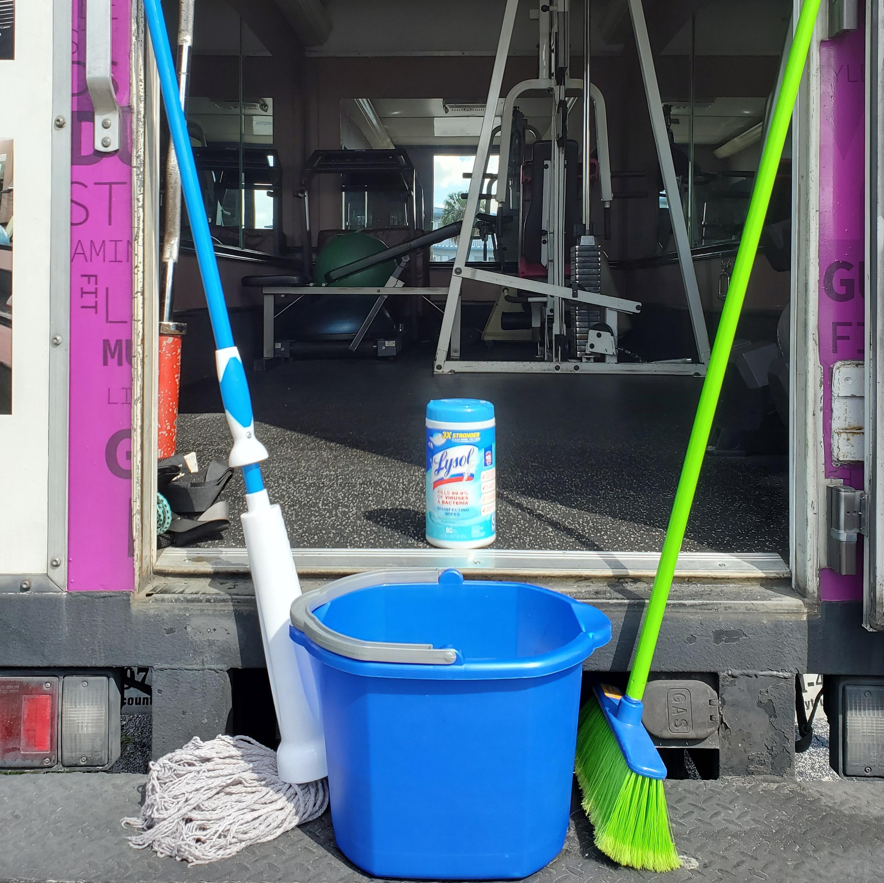 Cleaning Equipments at Door To Door Fitness Inc  - Corona Virus Protection