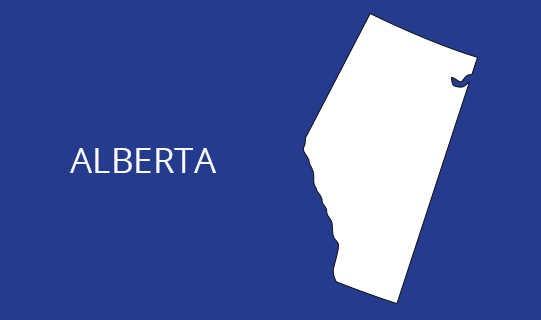 Location Map Alberta