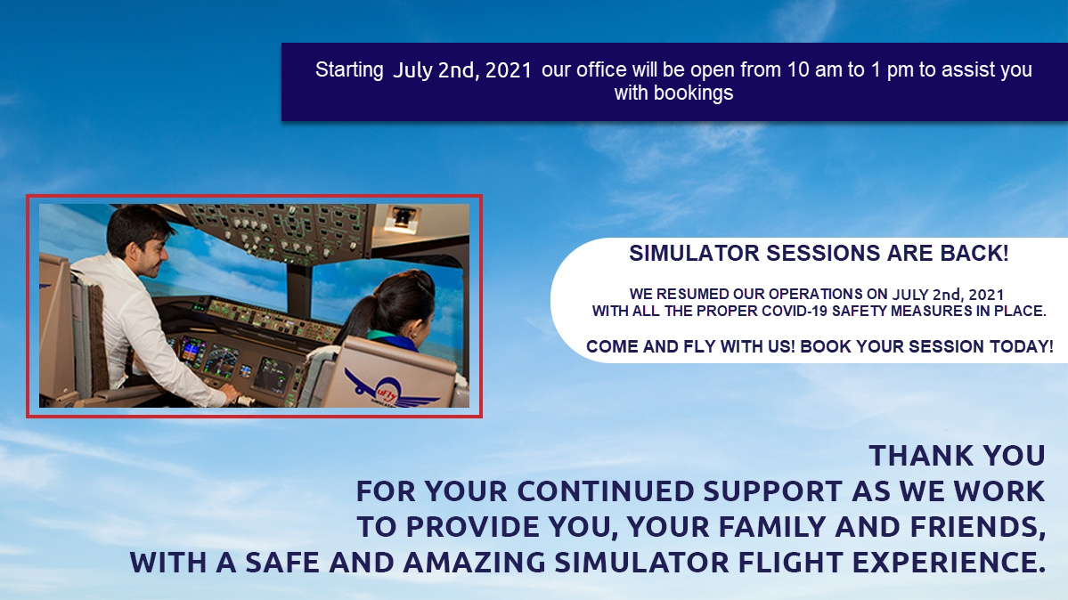 UFLY Simulator COVID-19 Update - We are back!
