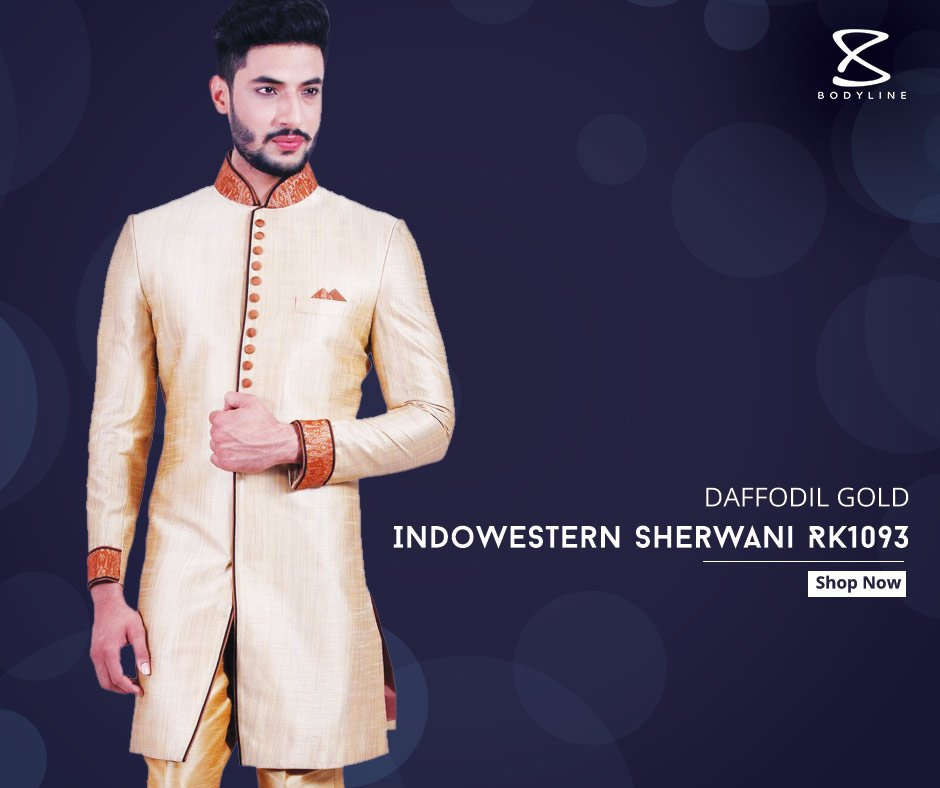 Golden Sherwani for Groom