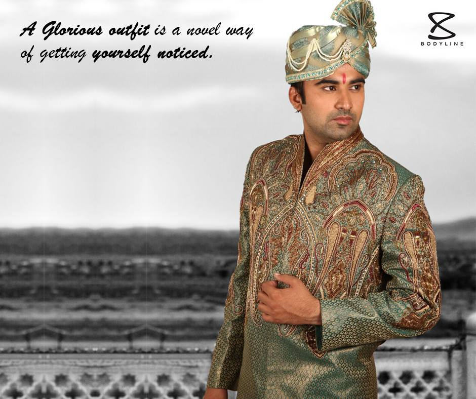 Green Sherwani Designs