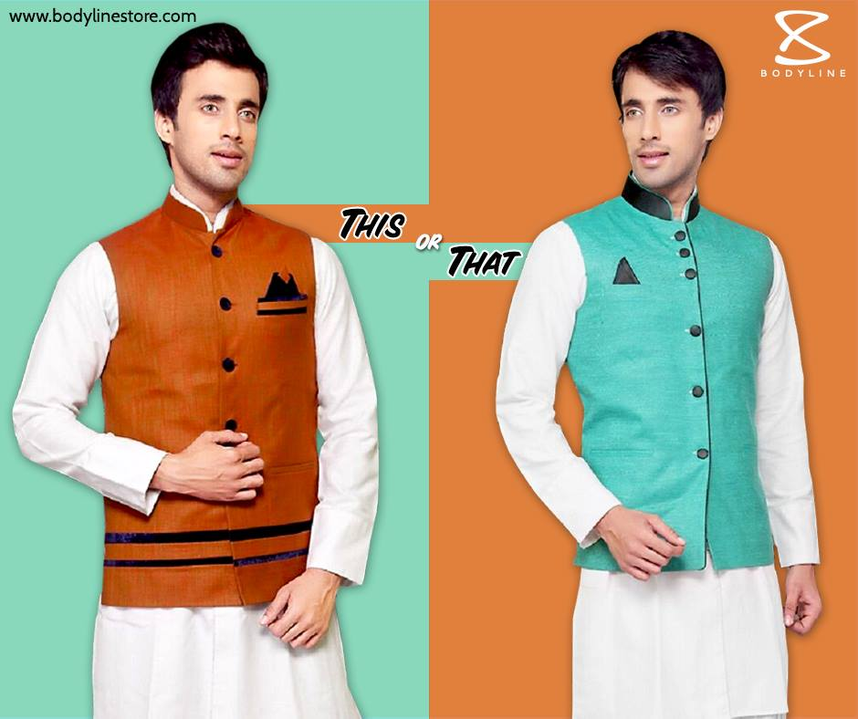 Designer Nehru Jacket / Nehru Jacket on White Kurta