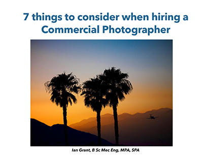 7 Things to Consider Commercial Photographer Master