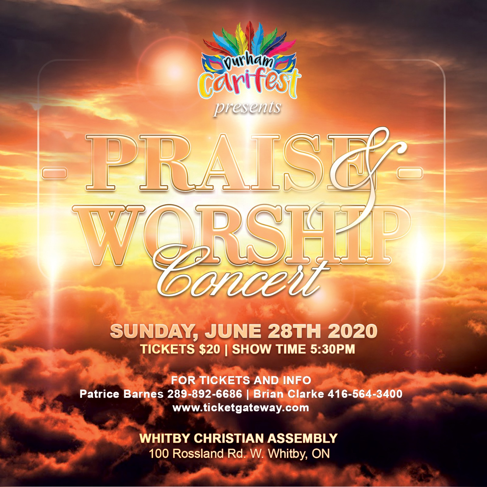 Praise and Worship Concert at Durham Carifest - Caribbean Music and Food Festival Ajax