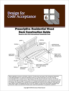 DCA-6 Residential Deck Construction Guide