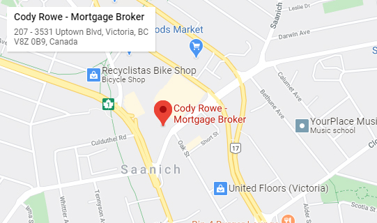Cody Rowe Mortgage Broker Service Area Map
