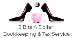 2 Bits A Dollar Bookkeeping & Tax Service Logo